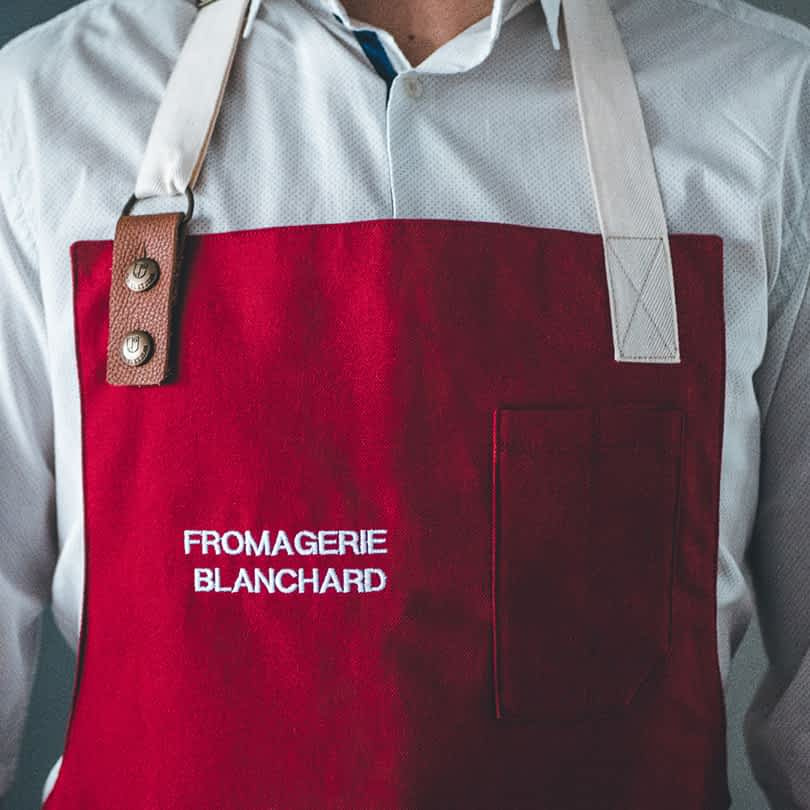 Broderie tablier fromagerie
